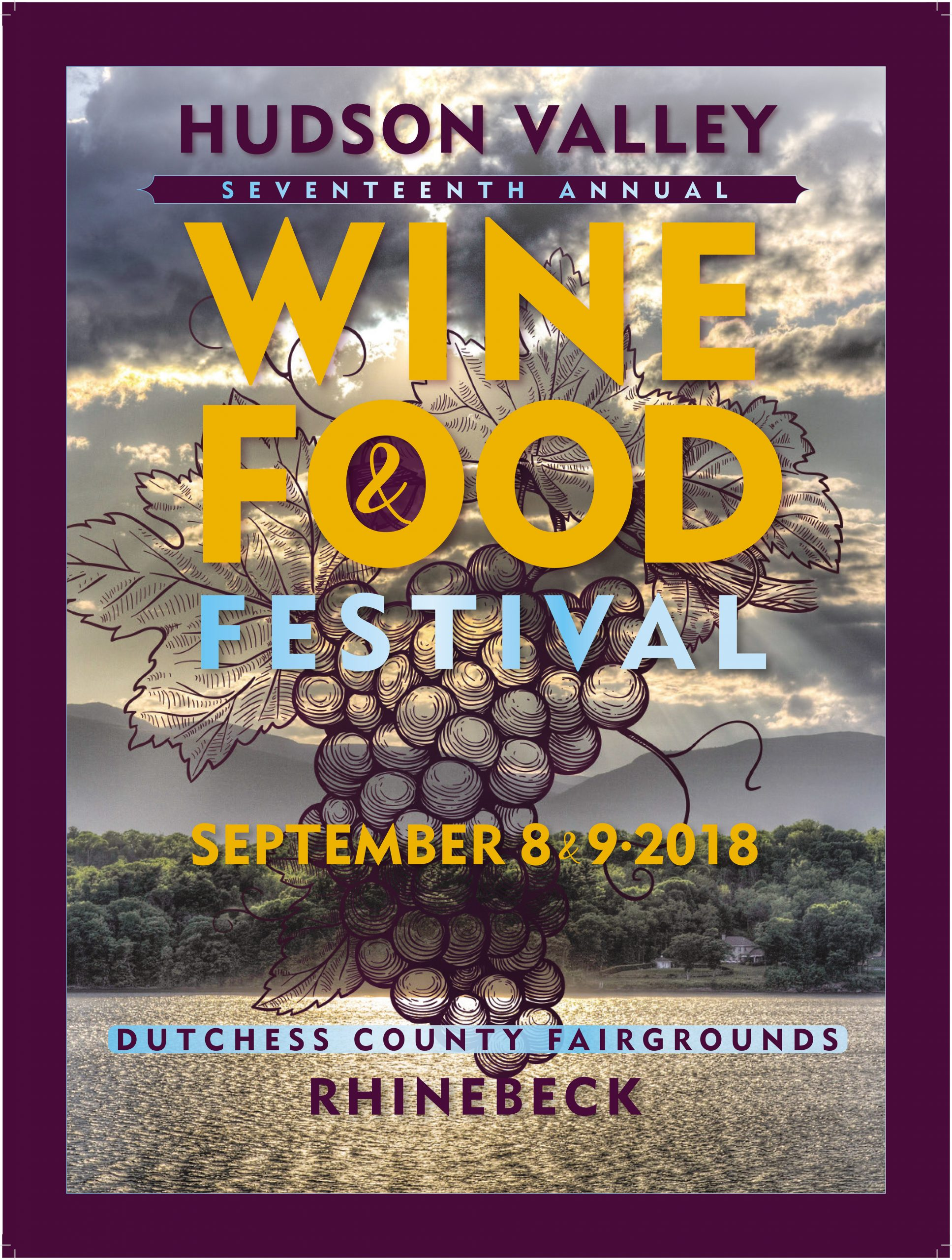 Wine And Food Festival Poster Hudson Valley Wine Food Fest 2018